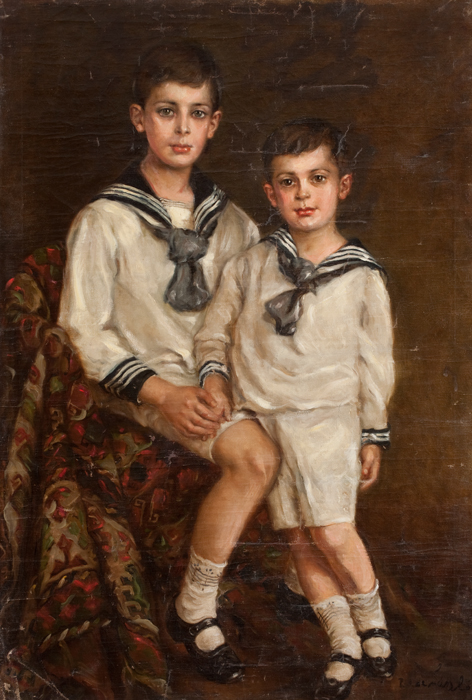 Portrait of Elmyr and his brother Stephan