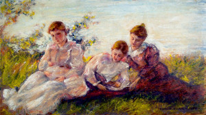 Women Seated on Lawn